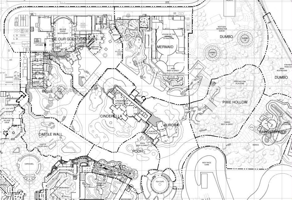 Magic Kingdom Fantasyland Expansion Plans Leaked on mansion plans